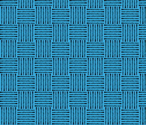 Woven Oboes - Blue fabric by beckarahn on Spoonflower - custom fabric