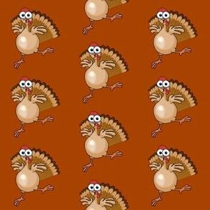 Cartoon turkey dancing.