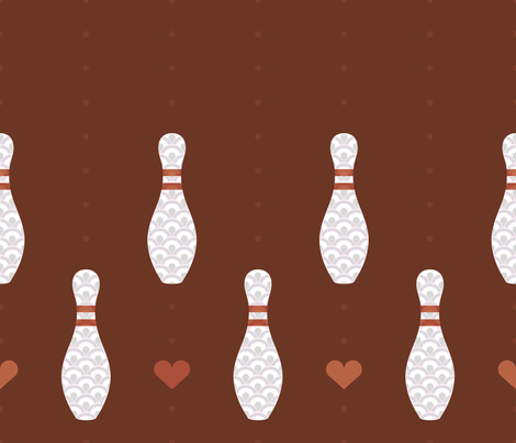 I Heart Bowling fabric by jgreenwalt on Spoonflower - custom fabric