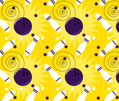 Bowling pattern fabric by borianakostova on Spoonflower - custom fabric
