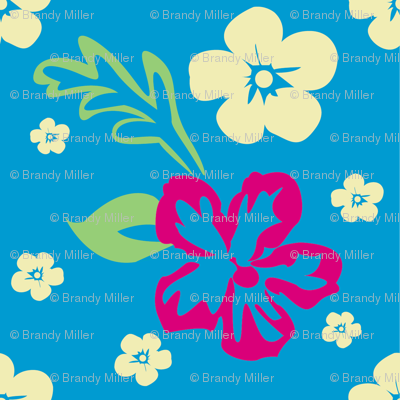 Aloha! Hawaiian Fabric in Blue