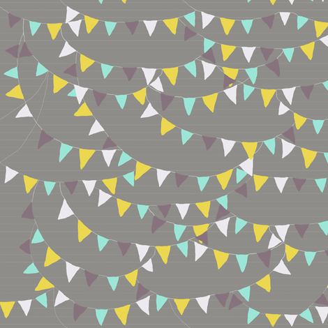 bunting_play_grey fabric by katarina on Spoonflower - custom fabric