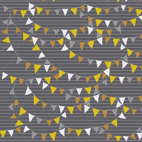 bunting_grey fabric by katarina on Spoonflower - custom fabric