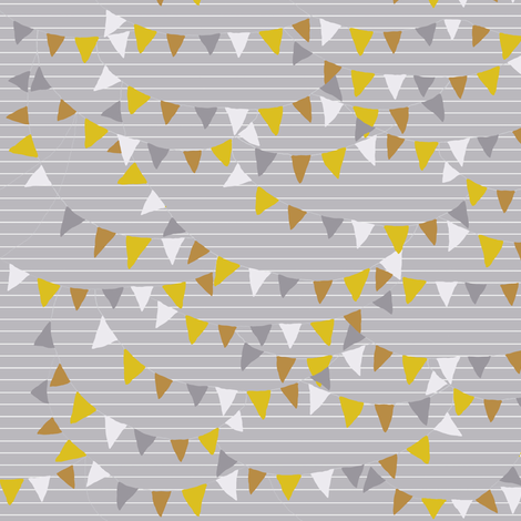 bunting_light_grey fabric by katarina on Spoonflower - custom fabric