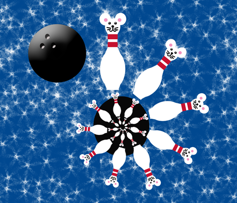 Mouse Bowling (Please note:No mice were injured in the creation of this design)