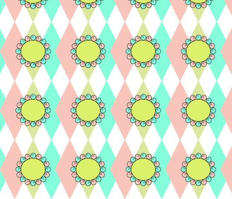 flower w/ bowling ball petals!   fabric by minniemeatdaydreamstudio on Spoonflower - custom fabric