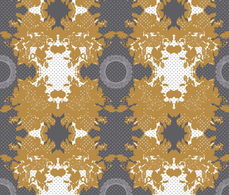 rabbits in mustard fabric by katarina on Spoonflower - custom fabric