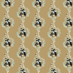 birds / floral brocade