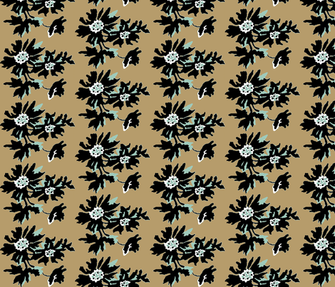 kahki floral fabric by paragonstudios on Spoonflower - custom fabric