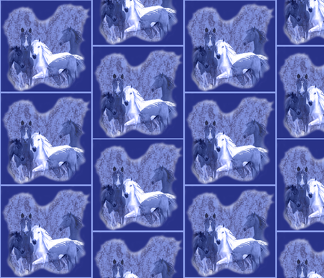 blue_horses_ fabric by dogdaze_ on Spoonflower - custom fabric