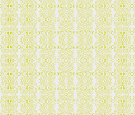 Little Brains in Ivory and Chartreuse fabric by bluenini on Spoonflower - custom fabric