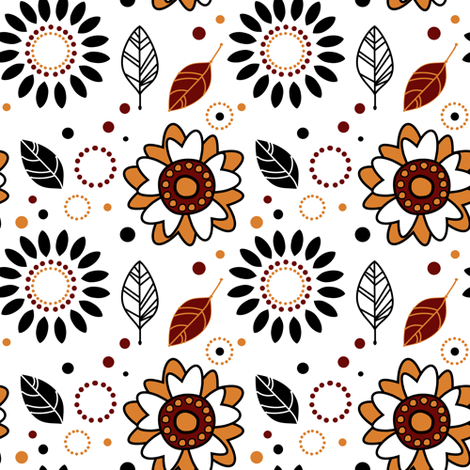 Catch A Falling Leaf - Autumn - © PinkSodaPop 4ComputerHeaven.com fabric by pinksodapop on Spoonflower - custom fabric