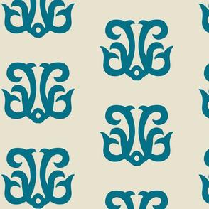 Dolphin Crest - Marine Blue