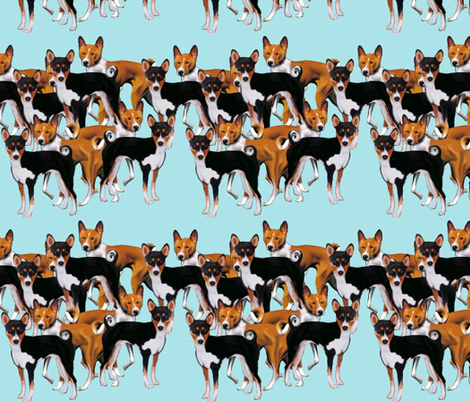 Basenji Fabric fabric by dogdaze_ on Spoonflower - custom fabric