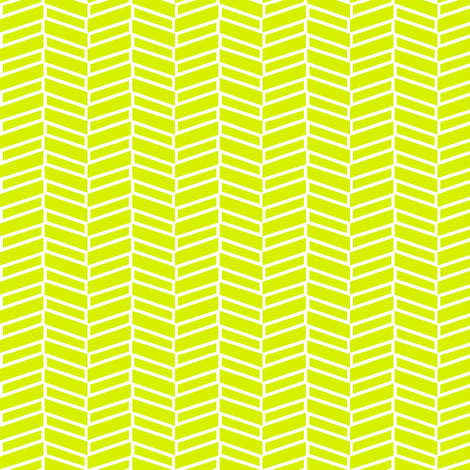 Modern Herringbone / Lime fabric by mjdesigns on Spoonflower - custom fabric