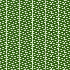 Modern Herringbone / Forest Green
