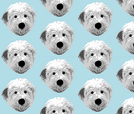 English Sheepdog  fabric by mayabella on Spoonflower - custom fabric