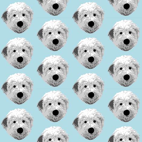 English Sheepdog  fabric by mayabella on Spoonflower - custom fabric