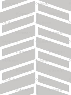 Modern Herringbone / Warm Gray