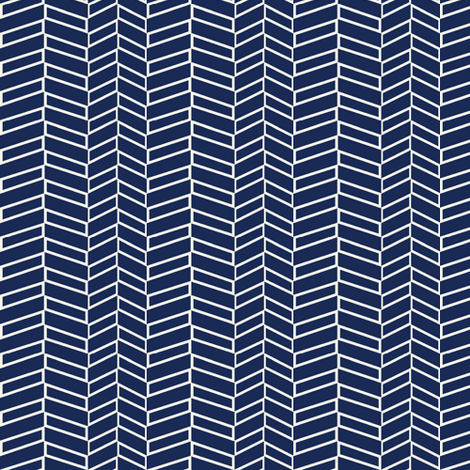 Assymetrical Herringbone / Navy fabric by mjdesigns on Spoonflower - custom fabric