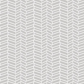 Assymetrical Herringbone / Warm Gray