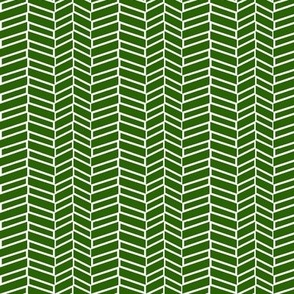 Assymetrical Herringbone / Forest Green