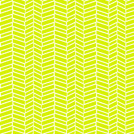 Assymetrical Herringbone / Lime Green fabric by mjdesigns on Spoonflower - custom fabric