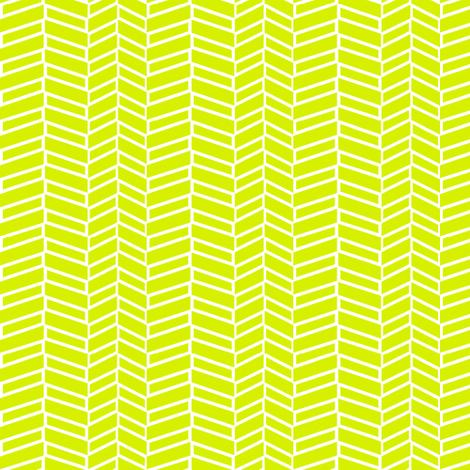 Assymetrical Herringbone / Lime Green fabric by mjdesigns on Spoonflower - custom fabric