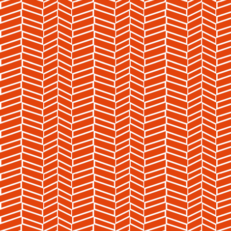 Assymetrical Herringbone / Burnt Orange (See Fabric Image!) fabric by mjdesigns on Spoonflower - custom fabric