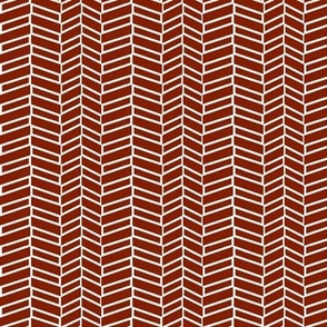 Assymetrical Herringbone / Burnt Orange (See Fabric Image!)