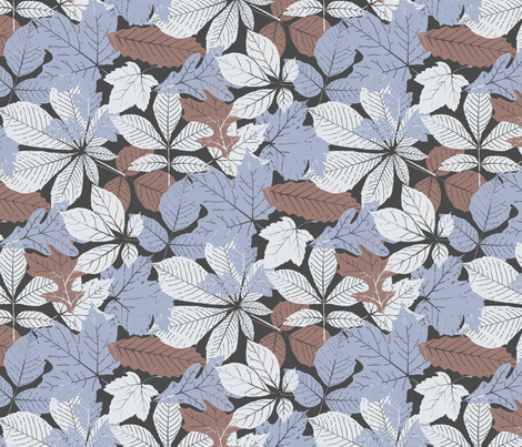 New Falling Leaves fabric by mktextile on Spoonflower - custom fabric