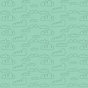 blue doodle clouds