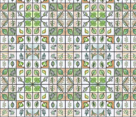 Classy Leaves fabric by beckarahn on Spoonflower - custom fabric