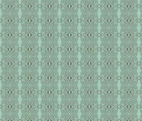 Little Brains in Aqua and Nutmeg fabric by bluenini on Spoonflower - custom fabric