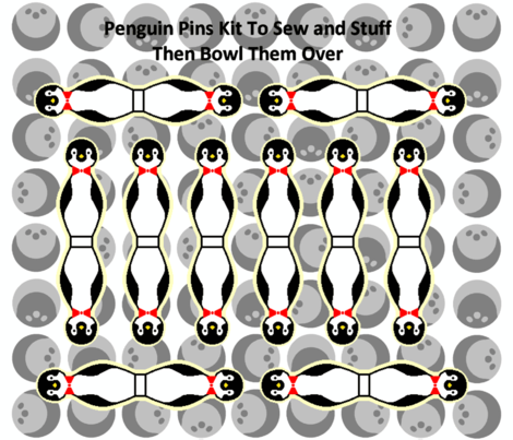 Penguin Pins fabric by kdl on Spoonflower - custom fabric