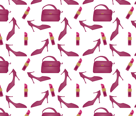 Fashion Fabulous in Pink fabric by brandymiller on Spoonflower - custom fabric