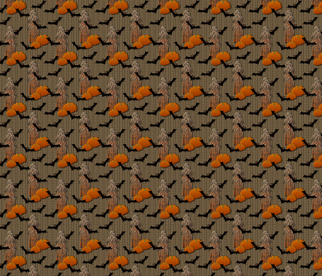 Batty Halloween fabric by glimmericks on Spoonflower - custom fabric