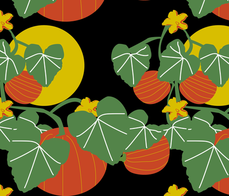 Nighttime in the Pumpkin Patch fabric by brandymiller on Spoonflower - custom fabric