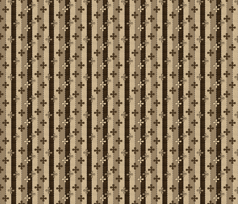 Chocolate Ribbons fabric by glimmericks on Spoonflower - custom fabric