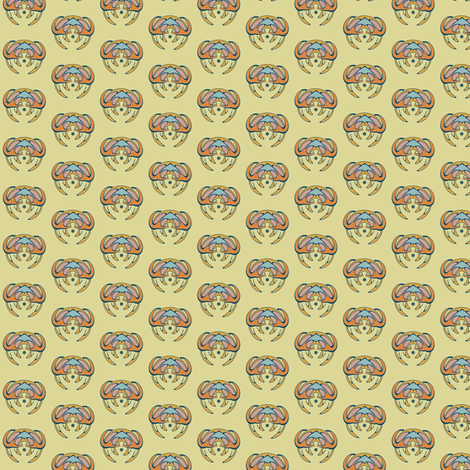 Bee India fabric by david_kent_collections on Spoonflower - custom fabric