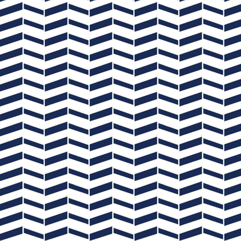 Broken Chevron / Navy fabric by mjdesigns on Spoonflower - custom fabric