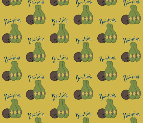 50's Retro Bowling fabric by jazilla on Spoonflower - custom fabric