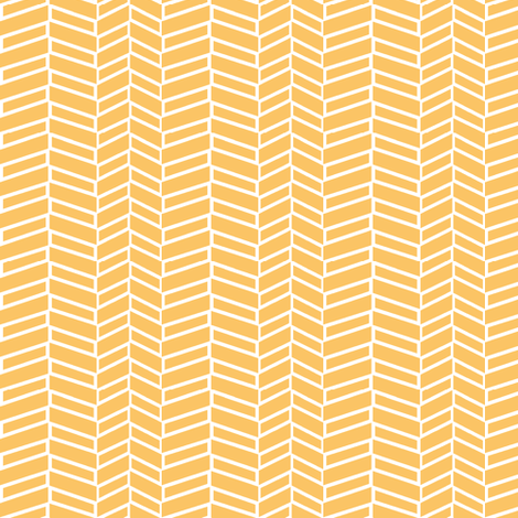 Assymetrical Herringbone / Tangerine fabric by mjdesigns on Spoonflower - custom fabric