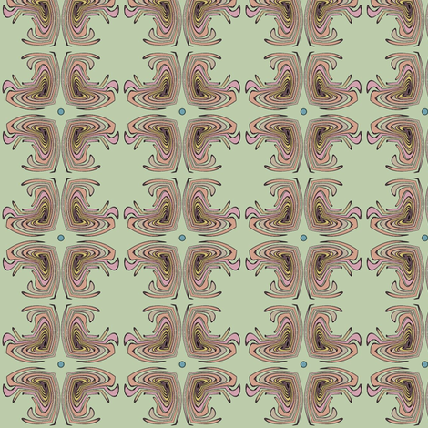 Four Feathers (Mint) fabric by david_kent_collections on Spoonflower - custom fabric