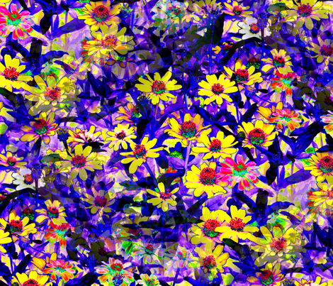 Field_of_Flowers fabric by farrellart on Spoonflower - custom fabric