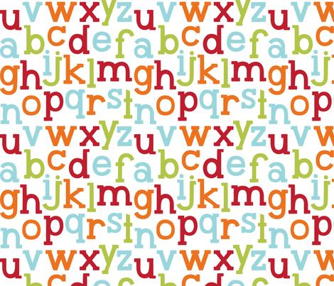 little one boy :: alphabet fabric by misstiina on Spoonflower - custom fabric