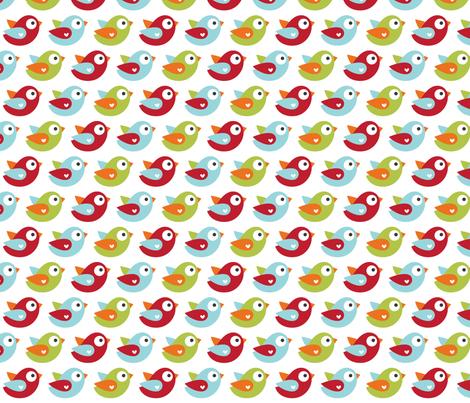 little one boy :: birds fabric by misstiina on Spoonflower - custom fabric