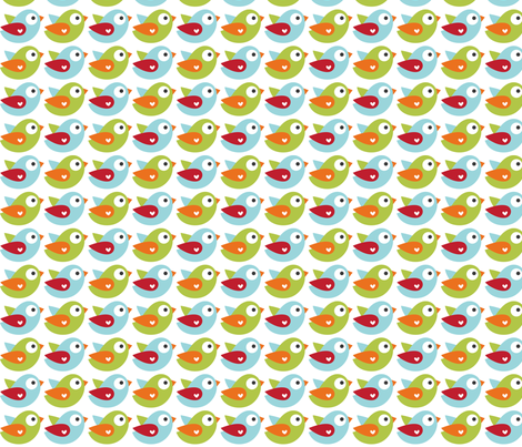 littleone birds fabric by misstiina on Spoonflower - custom fabric