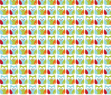 littleone owls fabric by misstiina on Spoonflower - custom fabric