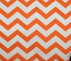 chevron orange and white